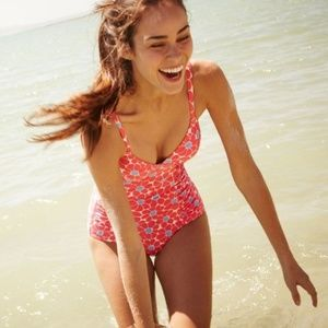 BODEN floral fifties one piece swimsuit 6